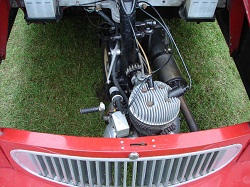 A one cylinder engine doesn't have much power.